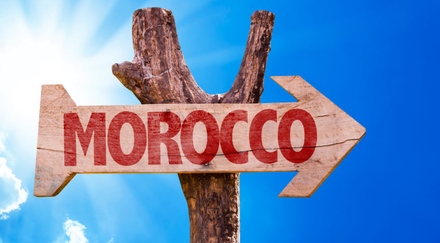 MOROCCO SIGN WOOD